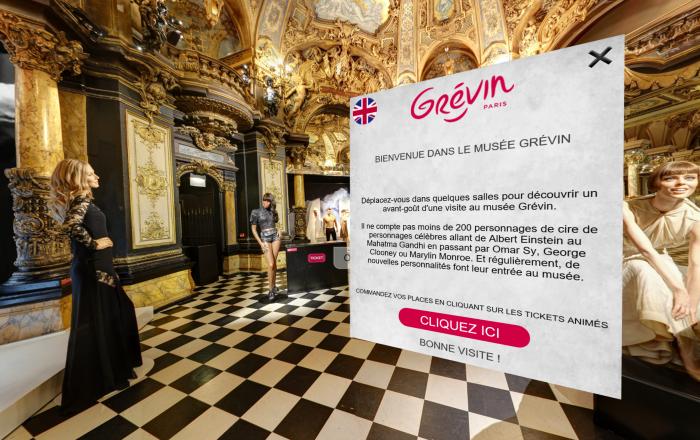 Boutique virtuelle du musée Grévin fait par DIAKSE